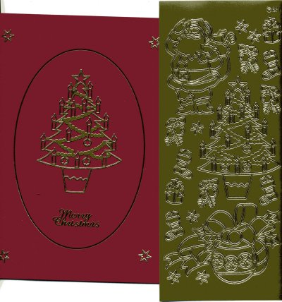 Christmas Tree, Santa & Decorations - Gold