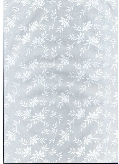 Printed Vellum A4 - Flowers & Ferns