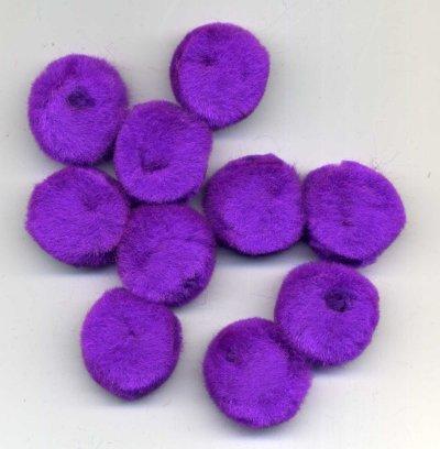 "Pompoms 1"" - Purple x 10"