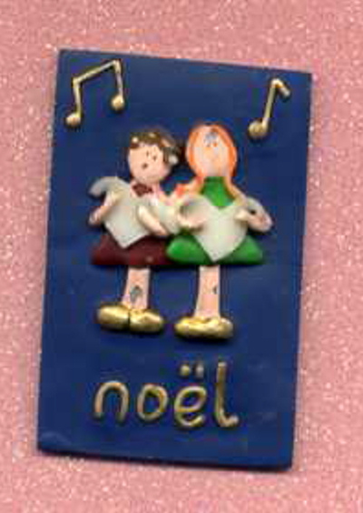 3D Whimsical Topper - Christmas Choir / Noel