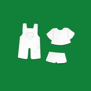 Doll Dungaree / Overalls x 10 sets