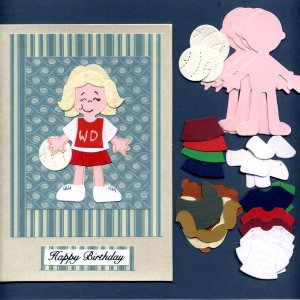 Doll Netball Set (Girl) x 4