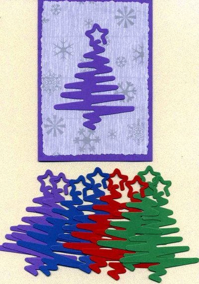 Christmas Tree Squiggles x 8