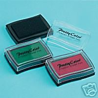 Large Stamp Pad x 3 - Red, Green & Black