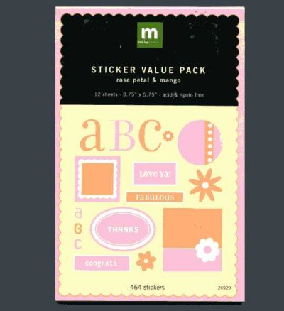 Sticker Value Pack - Rose Petal & Mango