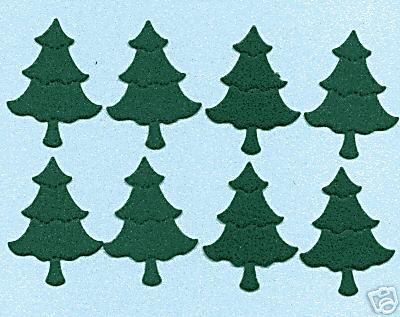 Christmas Trees Small (suede finish) x 8