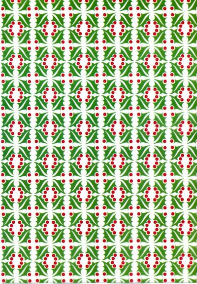 Printed Vellum A4 - Christmas Holly