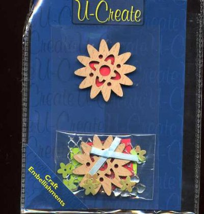 Wooden Topper Set - Flower