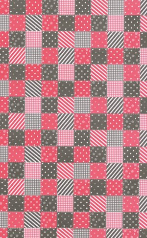 Printed Card A4 - Patchwork (Red/Black)