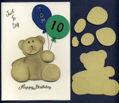 3D Teddy Bear x 6 sets