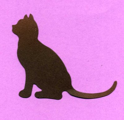Cat Silhouettes x 8
