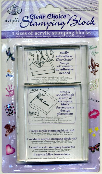 Clear Choice Acrylic Stamping Blocks x 3