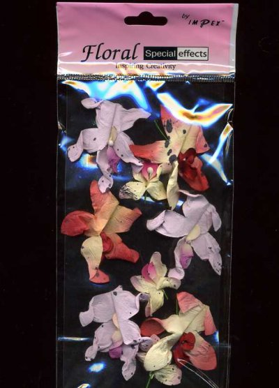 3D Flower Embellishments - Orchids x 9