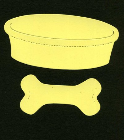 Dog bowl & bone x 8 sets