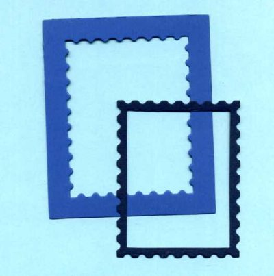 Rectangle Stamp Frame x 6 sets