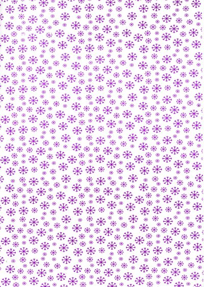 Printed Card A4 - Snowflakes - Purple
