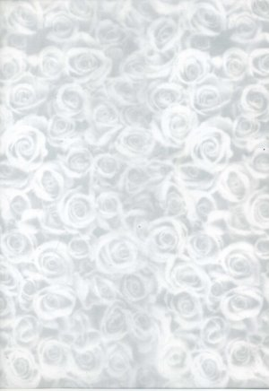 Printed Vellum A4 - Silver Rose Montage (Small)