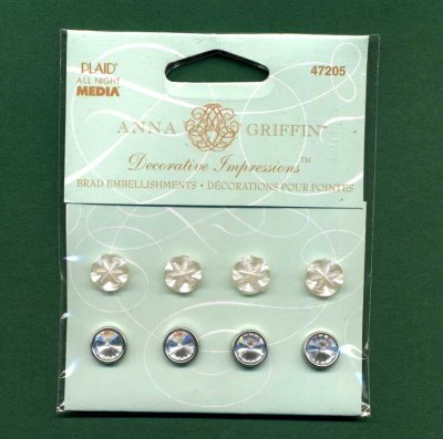 Decorative Impressions Brad Embellishments x 8