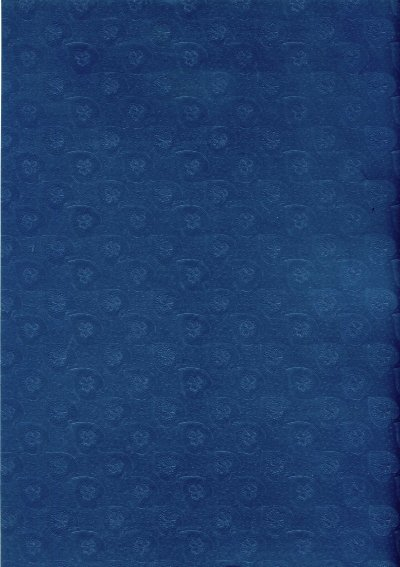 Embossed Card A4 - Pearl Blue (Hearts) - 225gsm