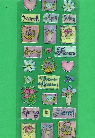 Bubbles & Borders - Spring theme 2 - Large (BS02)