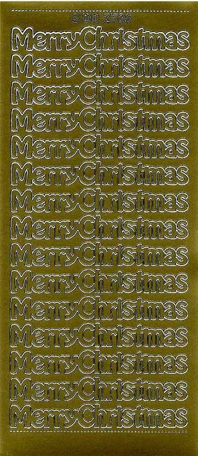 Merry Christmas (Large) 2705 - Gold
