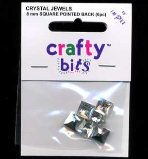 Crystal Jewels - Squares 8mm x 6