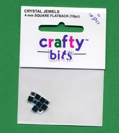Crystal Jewels - Squares 4mm Flatback x 10