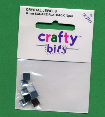 Crystal Jewels - Squares 6mm Flatback x 9