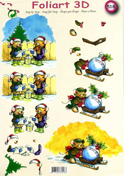A4 Decoupage Sheet - Christmas Comedy - 518