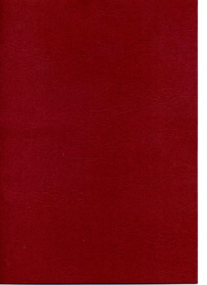 Card A4 - Red (Deep Red) Leather - 400gsm
