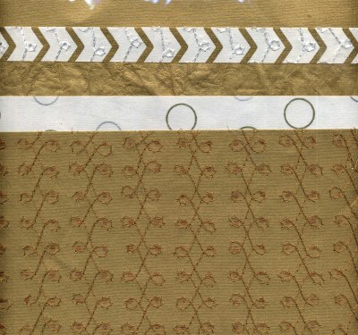 Decorative Craft Paper - Gold Assorted x 5 - Click Image to Close