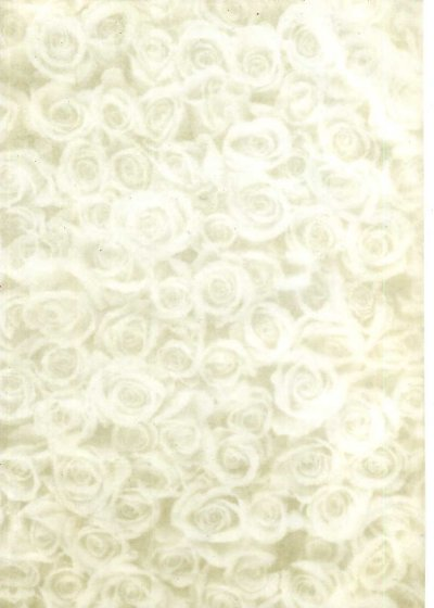 Printed Vellum A4 - Gold Rose Montage (Std)