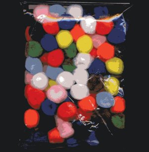 "Pompoms 1/2"" - Assorted Colours x 100"