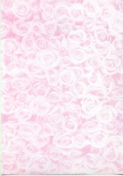 Backing Paper A4 - Pink Rose Montage (Small)