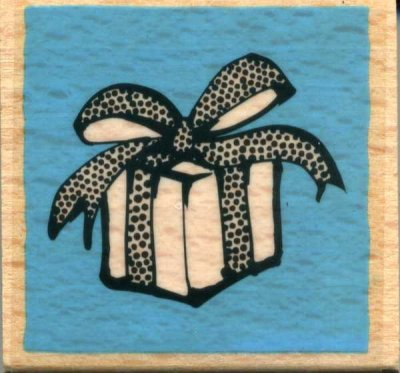 Wood Mounted Rubber Stamp - Present