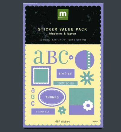 Sticker Value Pack - Blueberry & Lagoon