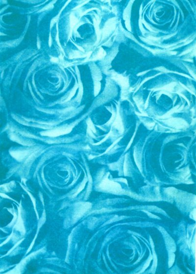 Backing Paper A4 - Teal Rose Montage (Large)